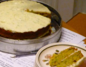 Courgette Cake - Mike July 16